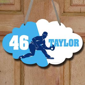 Baseball Cloud Sign Personalized Fielder Silhouette