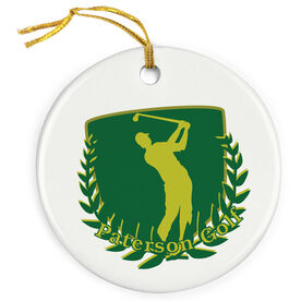 Golf Porcelain Ornament Custom Golf Logo
