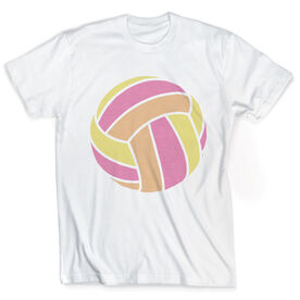 Vintage Volleyball T-Shirt - Colored Volleyball