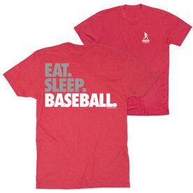 Baseball Short Sleeve T-Shirt - Eat. Sleep. Baseball Bold Text (Logo Collection)
