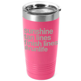 Running 20oz. Double Insulated Tumbler - Sunshine Tan Lines Finish Lines
