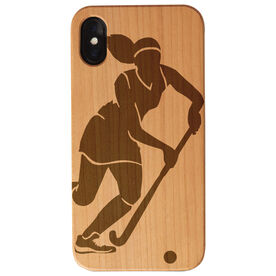 Field Hockey Engraved Wood IPhone® Case - Player