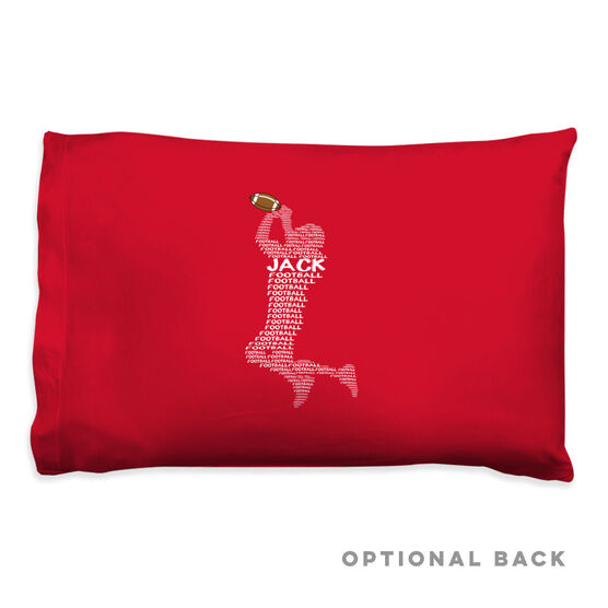 Football Pillowcase - Personalized Football Words
