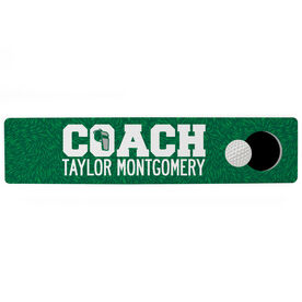 "Golf Aluminum Room Sign - Coach Golf (4""x18"")"