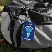 Guys Lacrosse Bag/Luggage Tag - Custom Team Stick Head