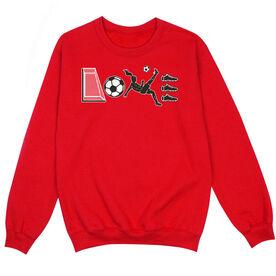 Soccer Crew Neck Sweatshirt - Soccer Love