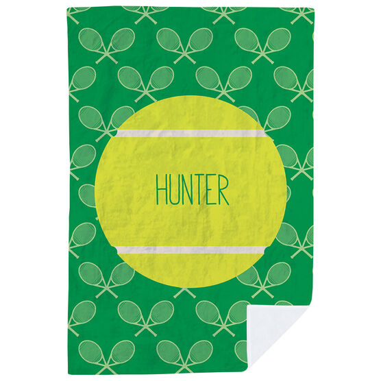 Tennis Premium Blanket - Personalized Ball And Pattern