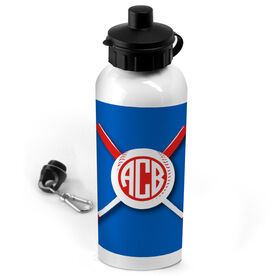 Baseball 20 oz. Stainless Steel Water Bottle Monogrammed Crossed Bats and Ball