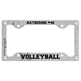 Custom Volleyball Player License Plate Holders