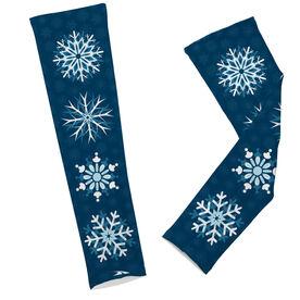 Printed Arm Sleeves Snowflakes