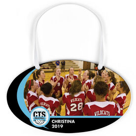 Volleyball Oval Sign - Team Photo and Logo