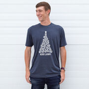 Lacrosse Short Sleeve T-Shirt - Merry Laxmas Tree