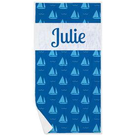 Personalized Premium Beach Towel - We Sail Away