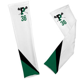 Arm Sleeves - Pentucket Youth Lacrosse Logo with Stripes