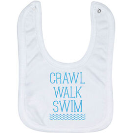 Swimming Baby Bib - Crawl Walk Swim