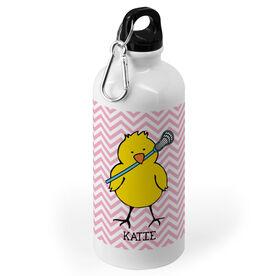 Girls Lacrosse 20 oz. Stainless Steel Water Bottle - Lacrosse Chick Chevron