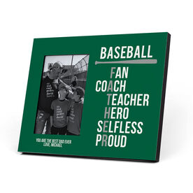 Baseball Photo Frame - Baseball Father Words