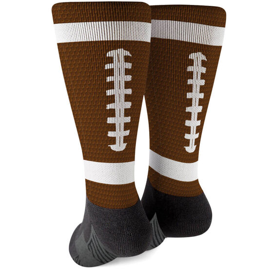 Football Printed Mid-Calf Socks - Ball