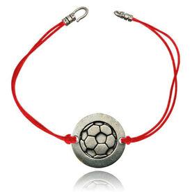Red Soccer Token Cord Bracelet