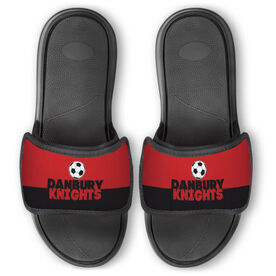 Soccer Repwell™ Slide Sandals - Team Name Colorblock