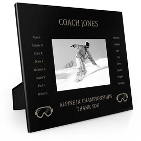 Snowboarding Engraved Picture Frame - Team Name With Roster (Coach)