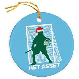 Guys Lacrosse Porcelain Ornament Net Asset