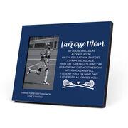 Guys Lacrosse Photo Frame - Lacrosse Mom Poem