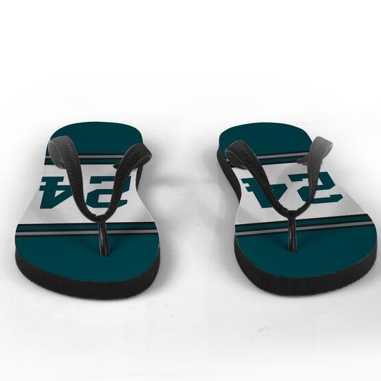 Football Flip Flops Eastern Jersey