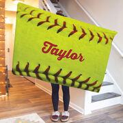 Softball Premium Blanket - Personalized Stitches