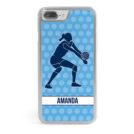 Volleyball iPhone® Case - Volleyball Pattern with Silhouette