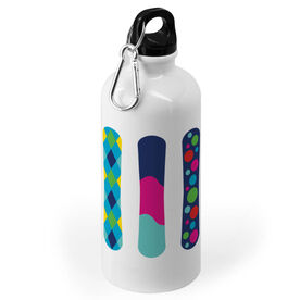 Snowboarding 20 oz. Stainless Steel Water Bottle - Snowboards Colorful