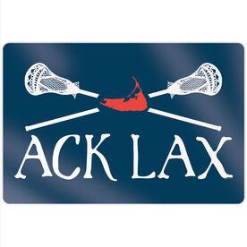 """Guys Lacrosse 18"""" X 12"""" Aluminum Room Sign - ACK Lax"""