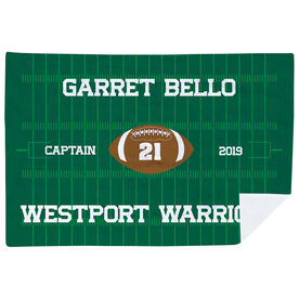 Football Premium Blanket - Personalized Football Captain
