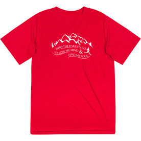 Men's Running Short Sleeve Tech Tee - Into the Forest I Go