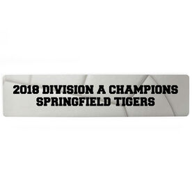 """Volleyball Aluminum Room Sign - Your Text Volleyball (4""""x18"""")"""
