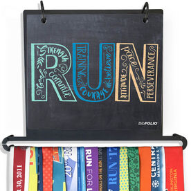 BibFOLIO+™ Race Bib and Medal Display - Inspire to RUN Chalkboard