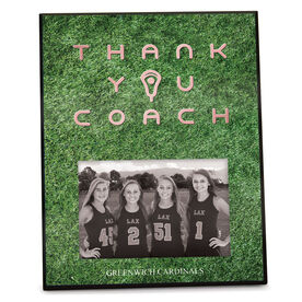 Girls Lacrosse Photo Frame Thank You Coach