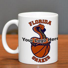Basketball Coffee Mug Custom Logo