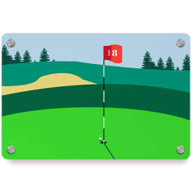 Golf Metal Wall Art Panel - The Eighteenth Hole