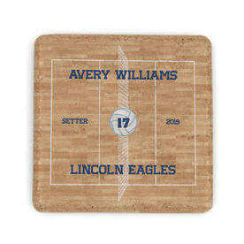 Volleyball Stone Coaster - Personalized Team