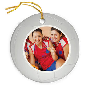 Volleyball Porcelain Ornament Custom Photo In Volleyball