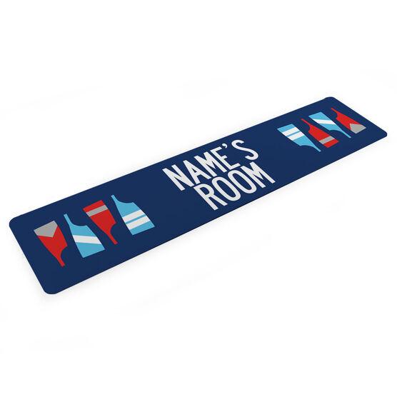 """Crew Aluminum Room Sign - Personalized Crew Room (4""""x18"""")"""