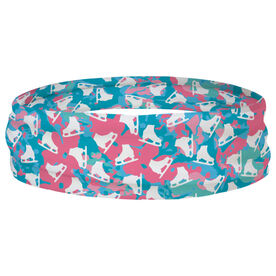 Figure Skating Multifunctional Headwear - Floral Pattern with Skates RokBAND