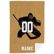 Hockey Premium Blanket - Personalized Goalie Player