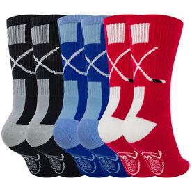 Hockey Woven Mid-Calf Sock Set - Sticks