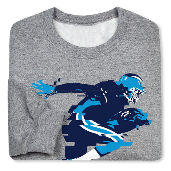 Football Crew Neck Sweatshirt - In The Blur Of A Moment (Football)