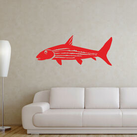 Fly Fishing Removable Wall Decal - Bonefish
