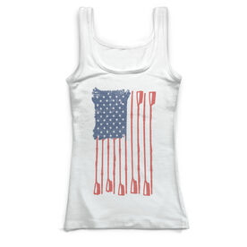 Crew Vintage Fitted Tank Top - Crew American Flag