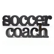 Soccer Coach Wood Words