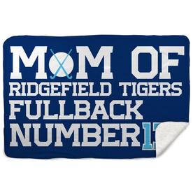 Field Hockey Sherpa Fleece Blanket - Personalized Field Hockey Mom